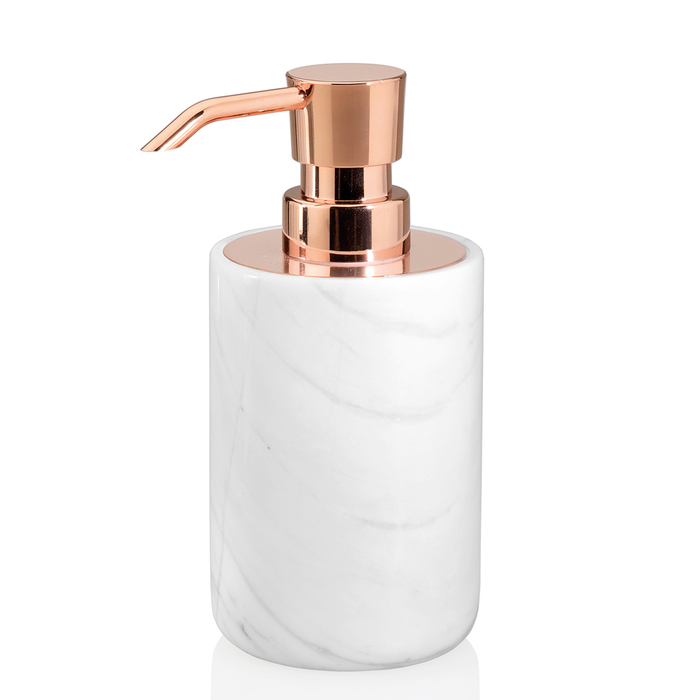 Marble And Copper Soap Dispenser Dwell