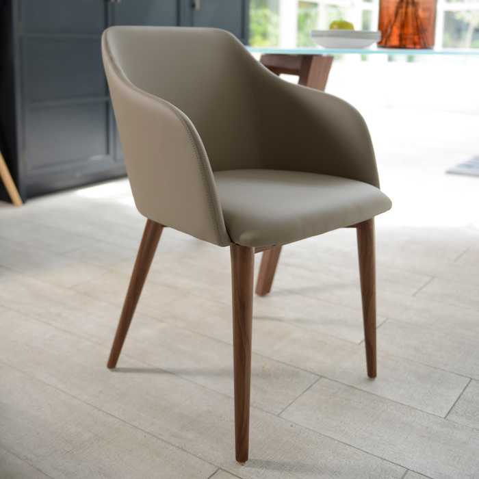 Dip dining chair stone