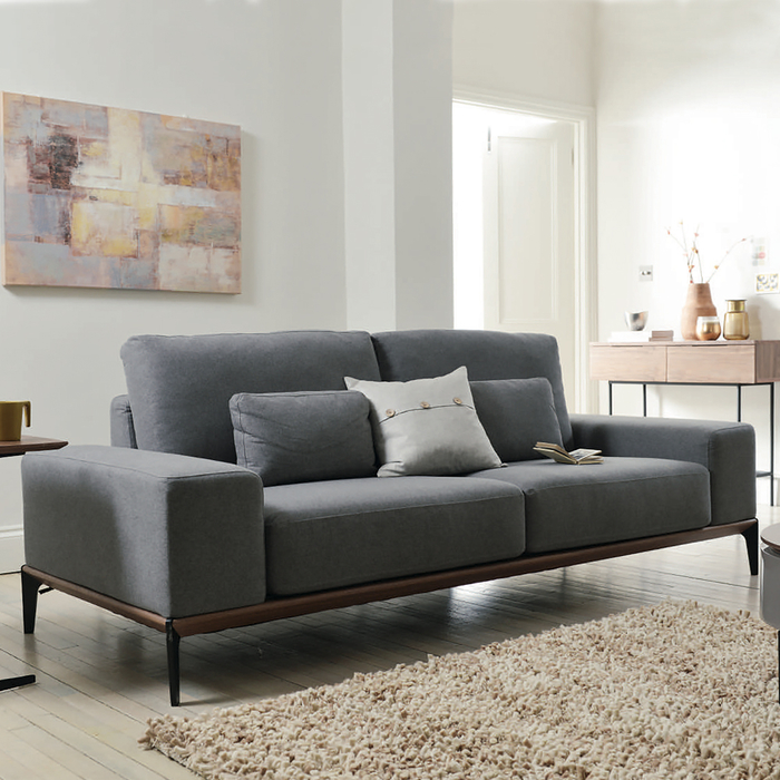 Malmo three seater sofa grey