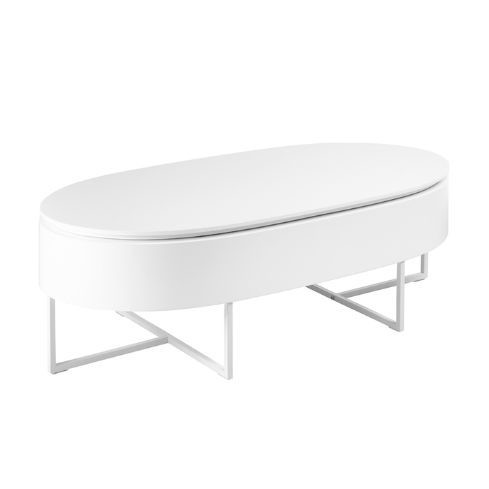 Pod lift up coffee table white