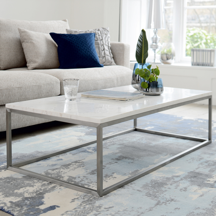 Terrific Marble Rectangular Coffee Table White Dwell 329 Squirreltailoven Fun Painted Chair Ideas Images Squirreltailovenorg