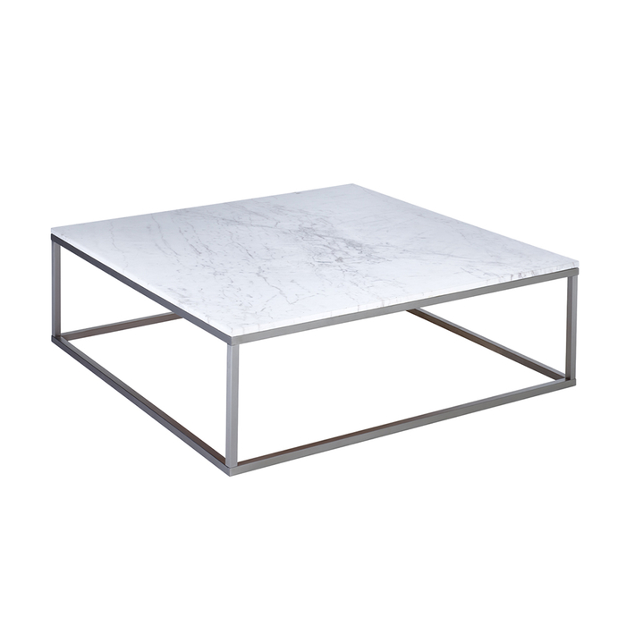 Marble square coffee table white