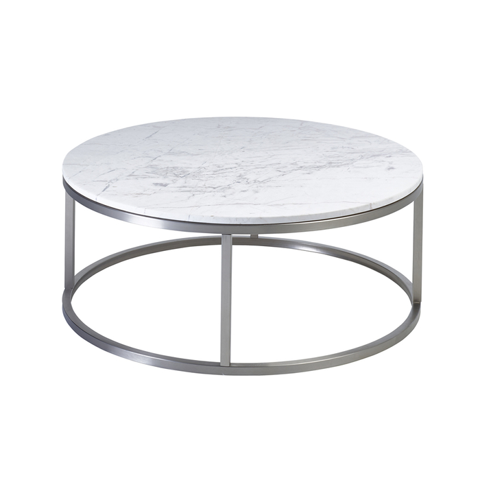 Marble Round Coffee Table White Dwell