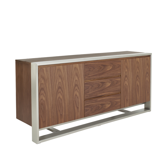 Nox two door sideboard with drawers walnut