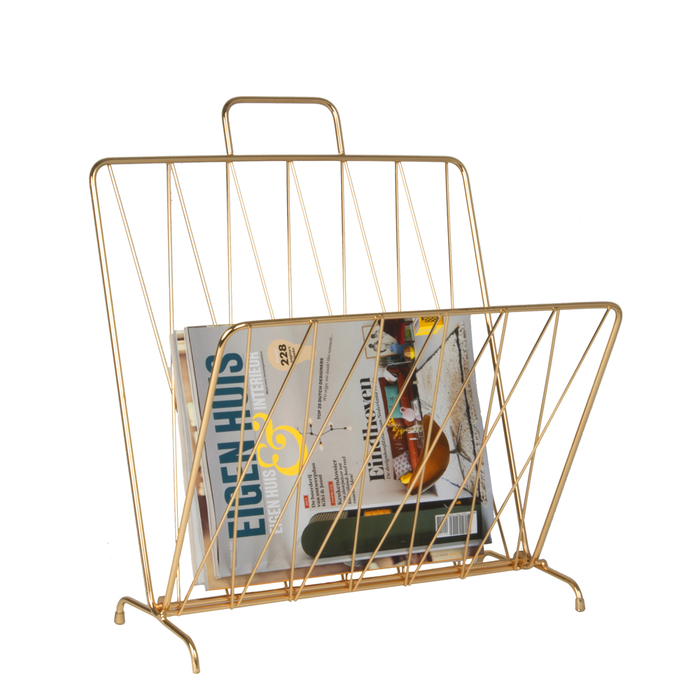 Foldable magazine rack gold