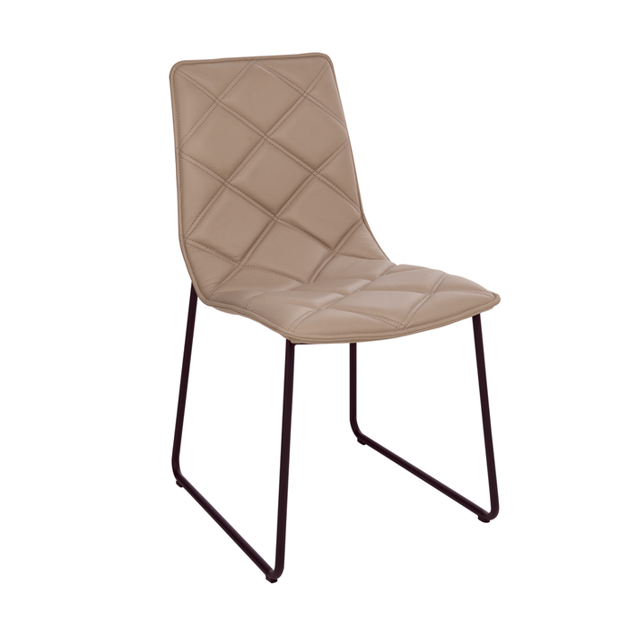 Portela dining chair faux leather stone