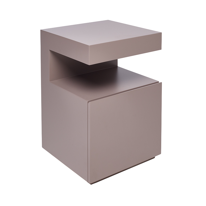 Vault bedside table with drawer stone