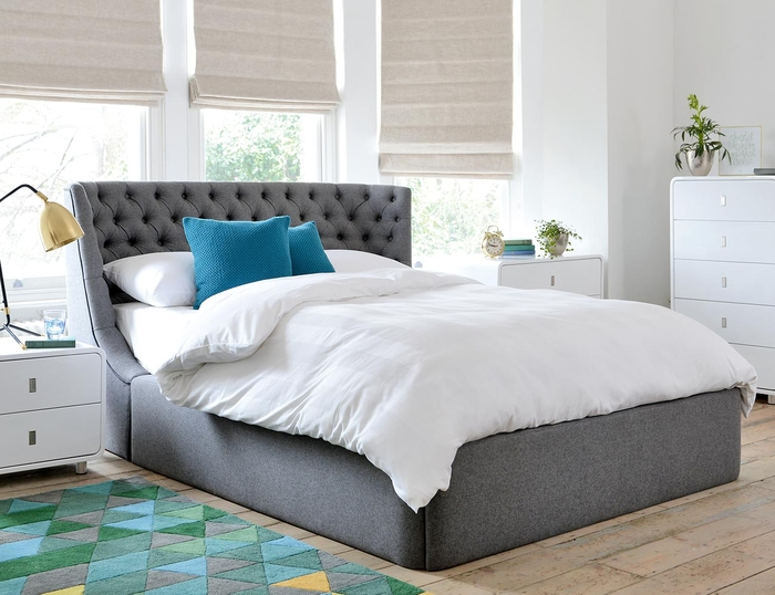 Cavendish Storage Bed Double Grey | Dwell   £995