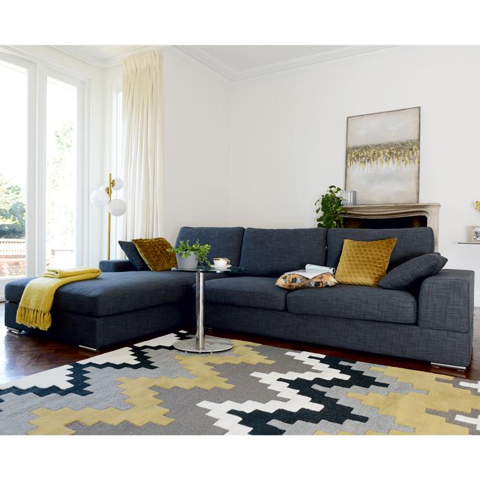 Verona left hand corner sofa slate