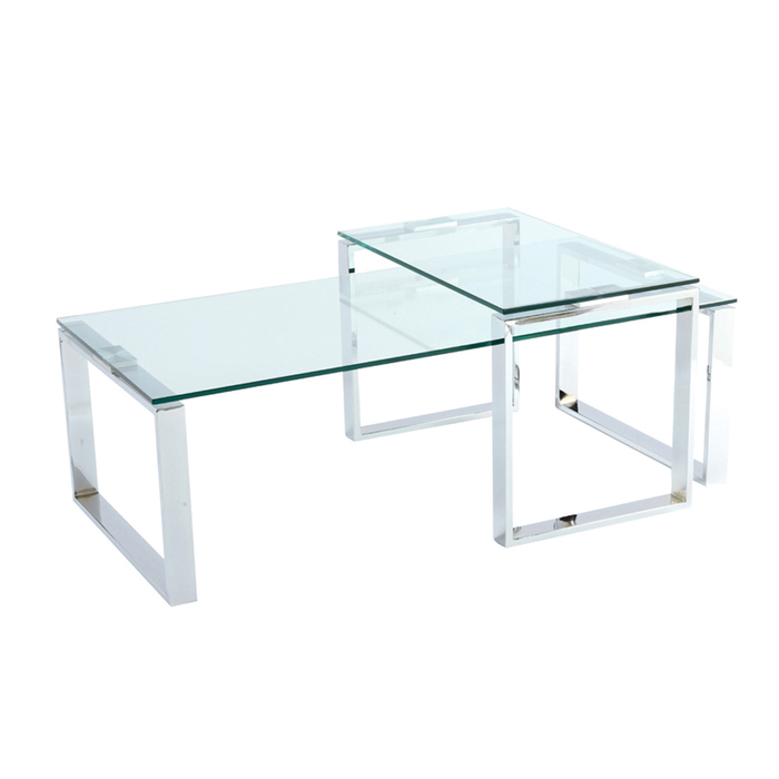 Span glass coffee table set