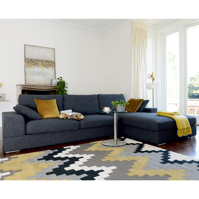 Verona right hand corner sofa slate