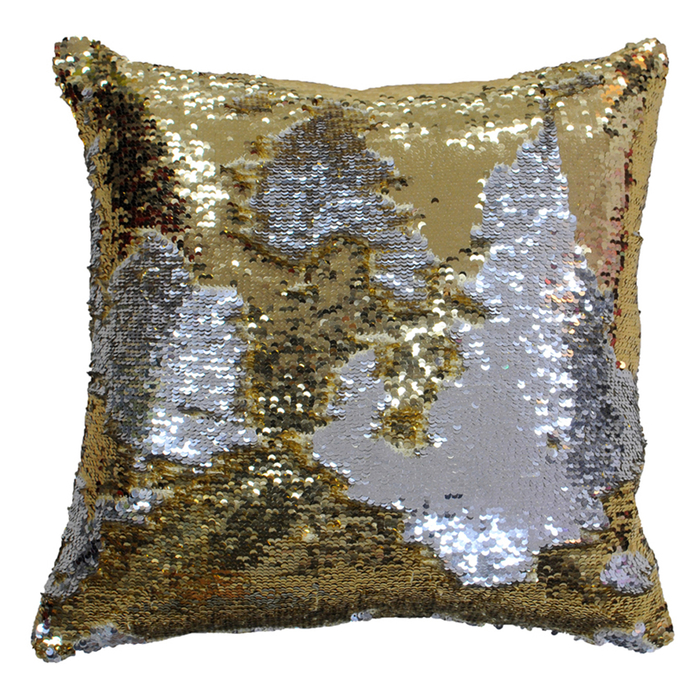 Glam cushion gold