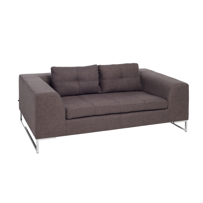 Vienna fabric two seater sofa truffle