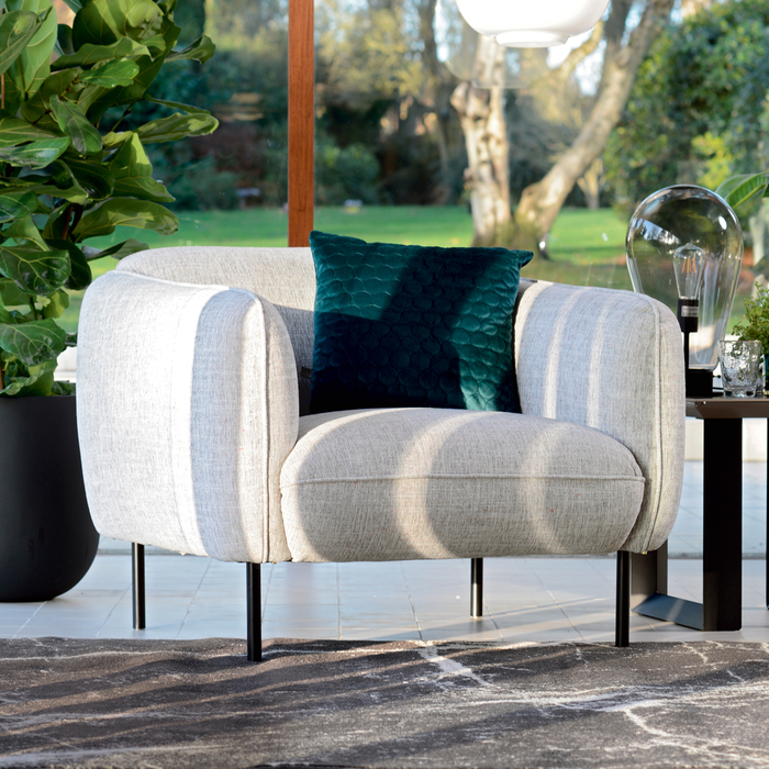 Valletta armchair light grey