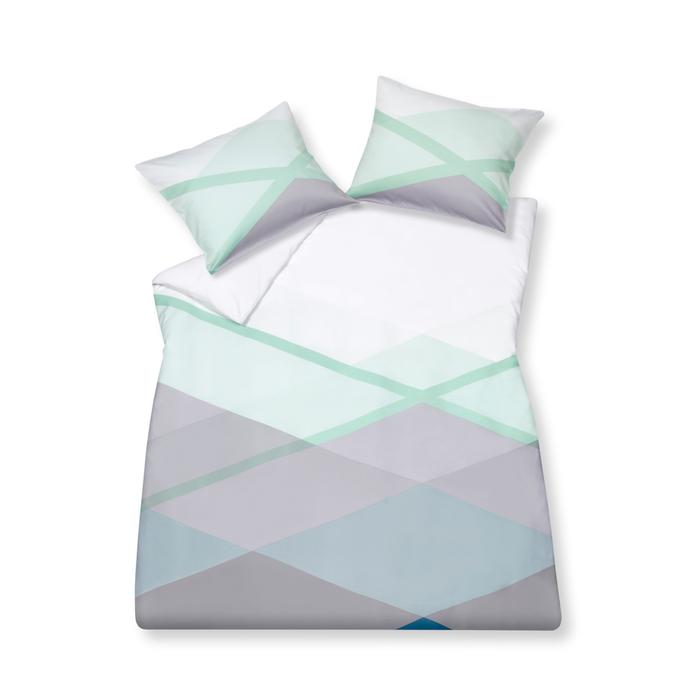 Cross corner duvet set with housewife pillowcase double