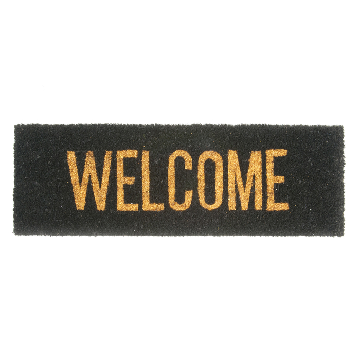 Slim welcome doormat gold