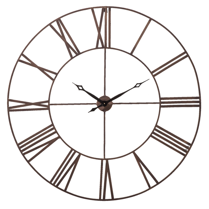 Roman numeral wall clock extra large