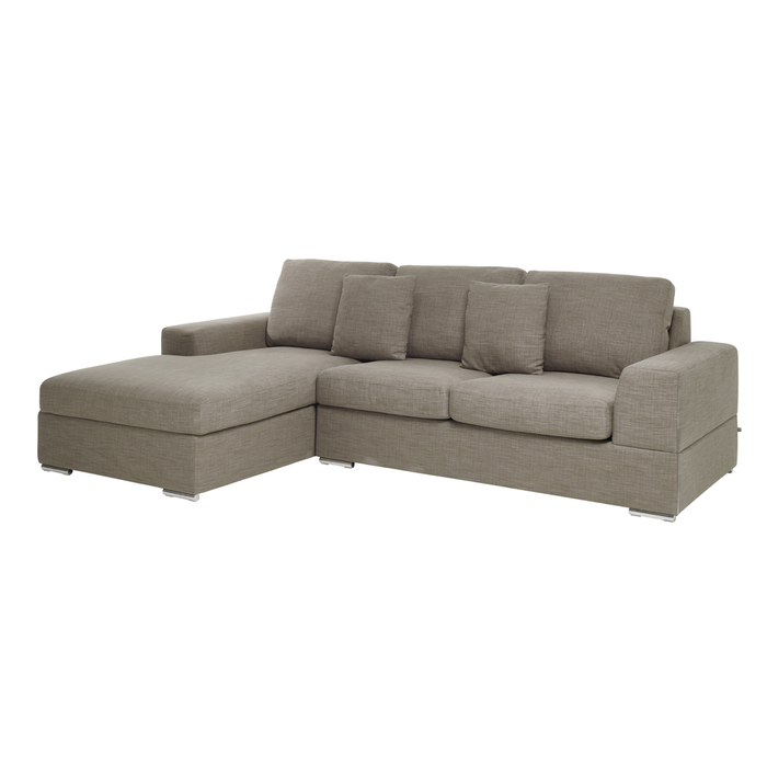 Verona left hand corner sofa bed with storage mocha