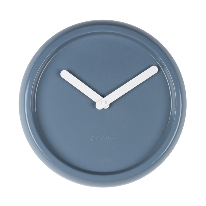 Ceramic wall clock blue