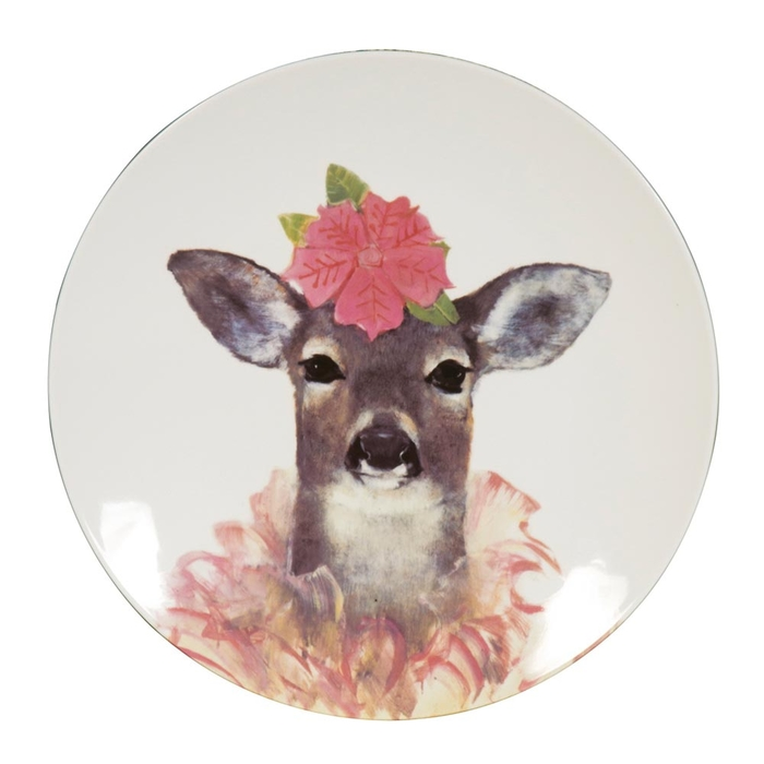 Fawn head decorative plate