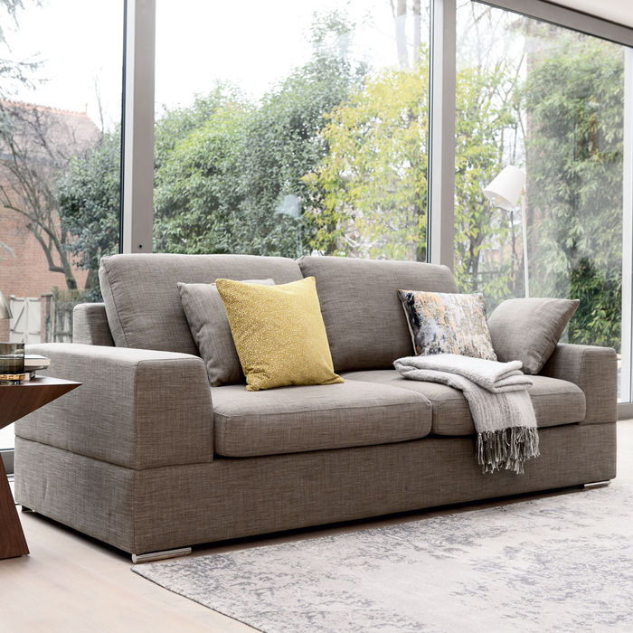 Verona three seater sofa bed mocha