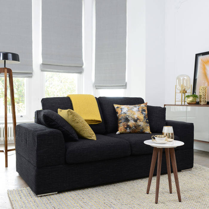 Verona Two Seater Sofa Bed Charcoal Dwell