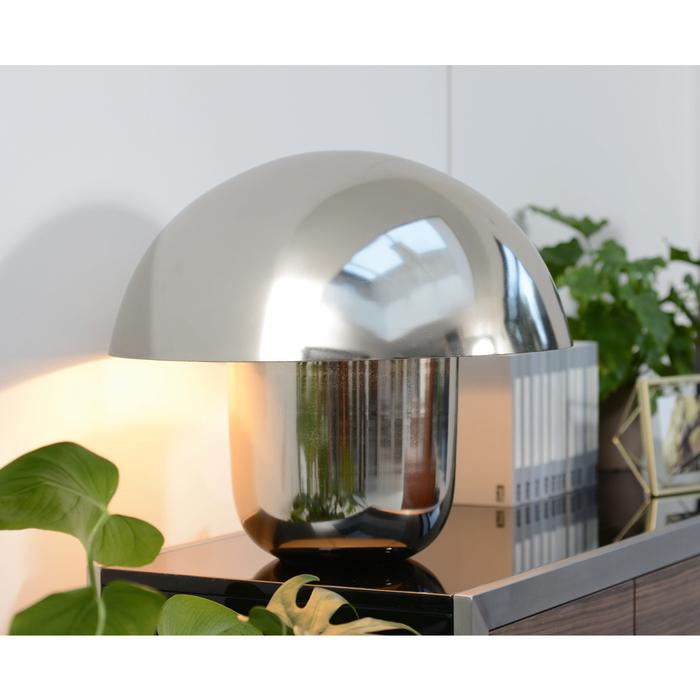 Mushroom table light silver