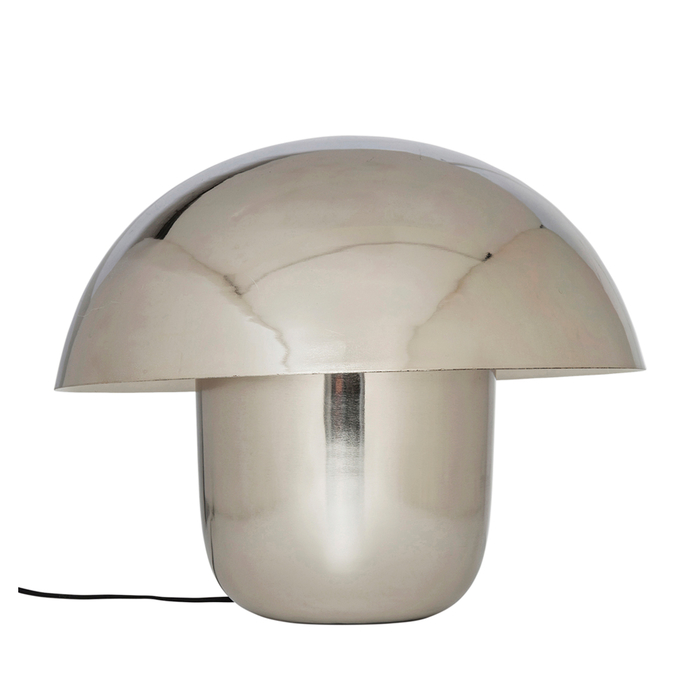 Mushroom table light silver