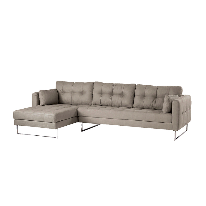 Paris left hand corner sofa pewter fabric