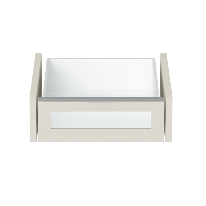 Loft interior drawer with glass panel small