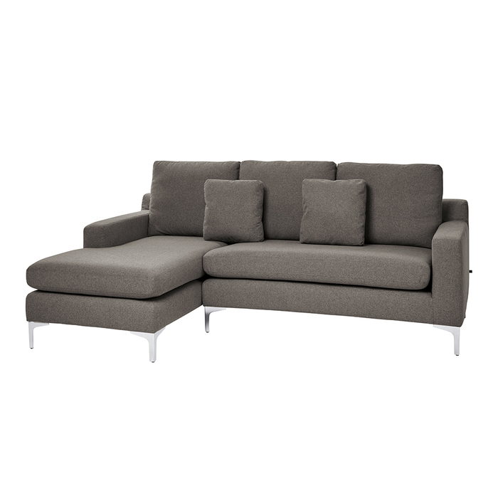 Oslo left hand corner sofa dark grey felt