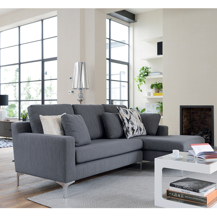 Oslo right hand corner sofa graphite fabric