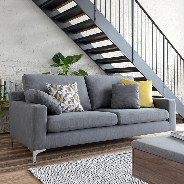 Oslo three seater sofa graphite fabric
