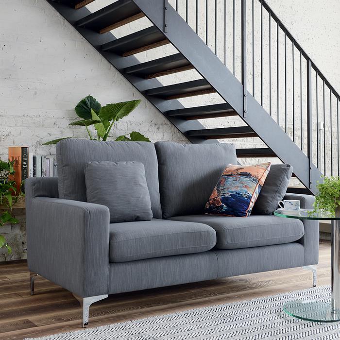 Oslo two seater sofa graphite fabric