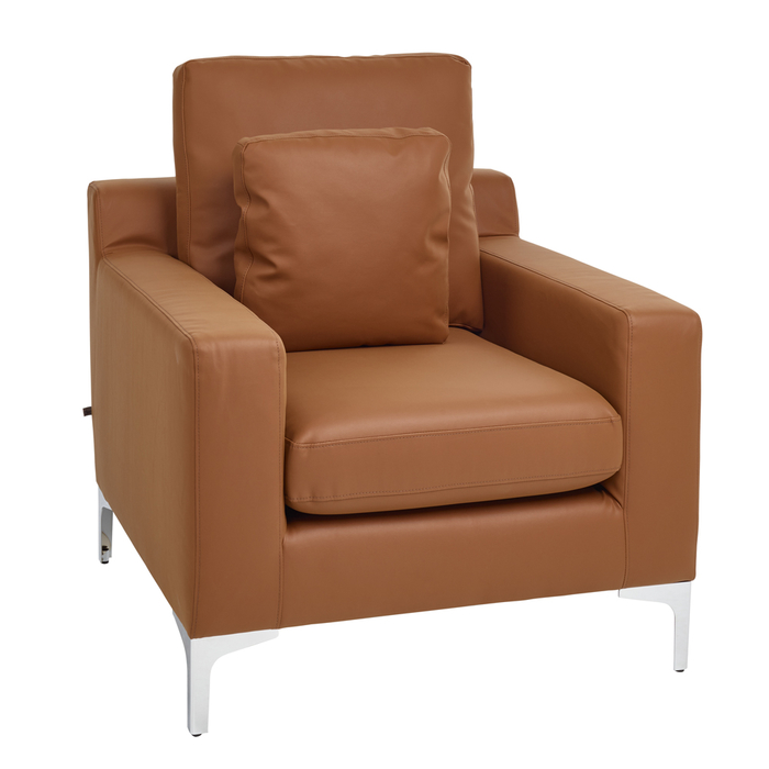 Oslo faux leather armchair tan