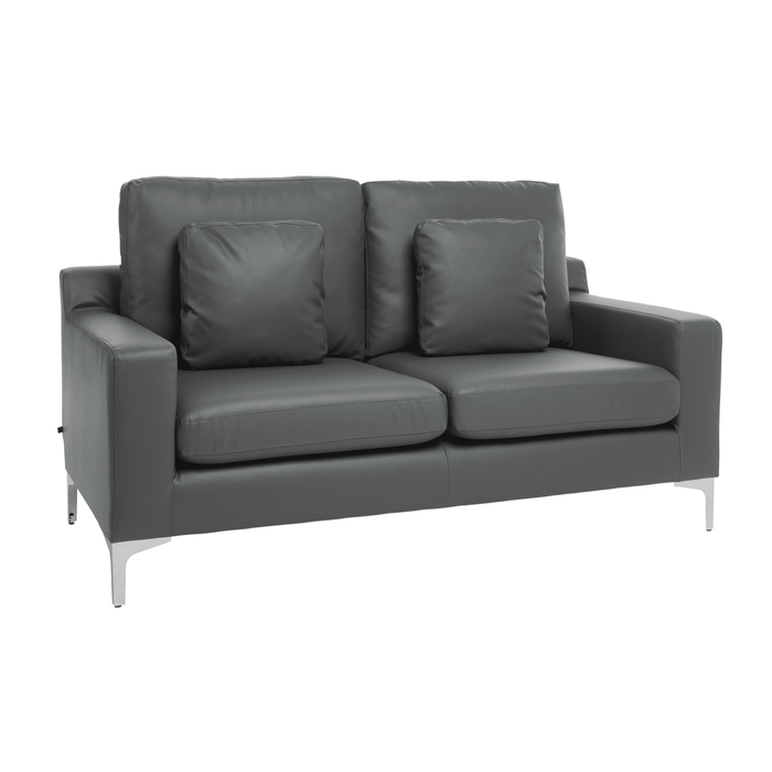 Oslo faux leather two seater sofa gull grey