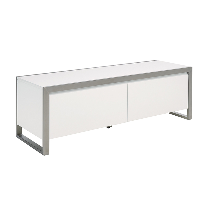 Steel frame TV unit medium white