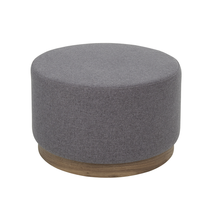Duo upholstered stool with walnut base