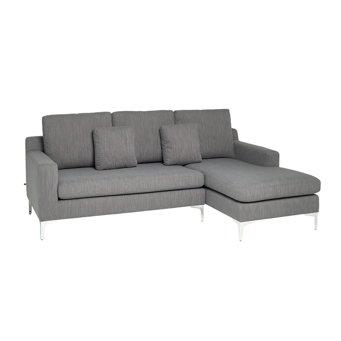 Oslo right hand corner sofa fossil fabric