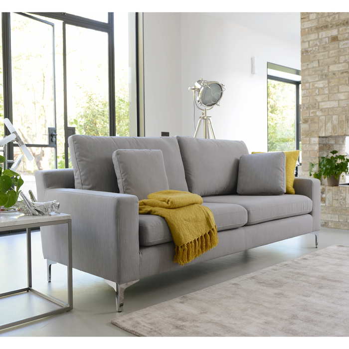 Oslo three seater sofa fossil fabric