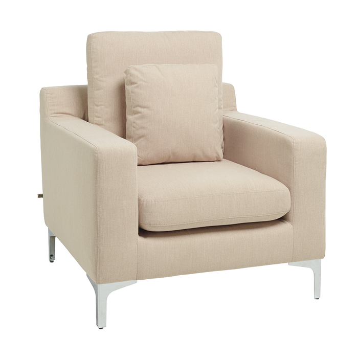 Oslo armchair cream fabric