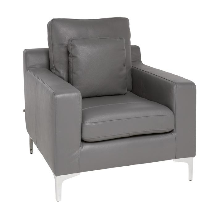 Oslo leather armchair grey
