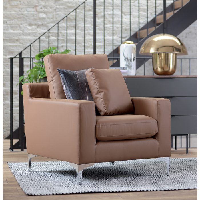 Oslo leather armchair natural tan