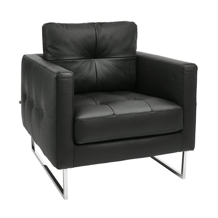 Paris faux leather armchair black
