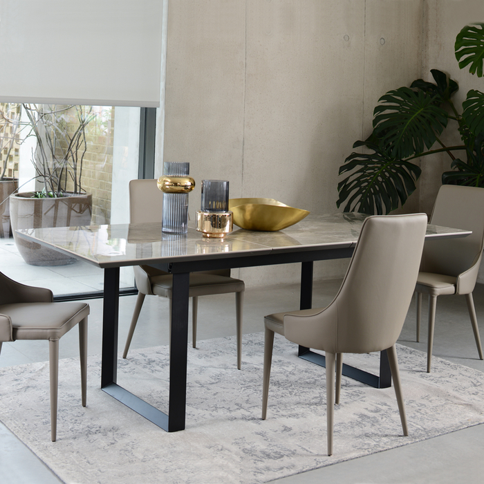 timeless design 20d4a 15aed Reno Ceramic Marble Extending 6-8 Seater Dining Table Grey | dwell - £749