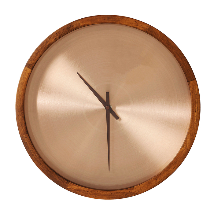 Bronze face wall clock large