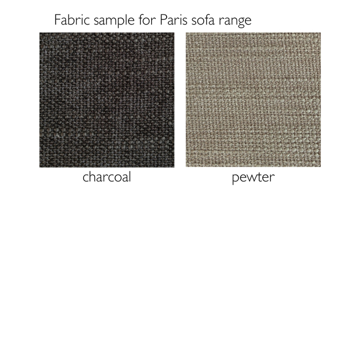 Fabric sample for Paris fabric sofa range