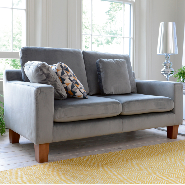 Ankara two seater sofa velvet grey