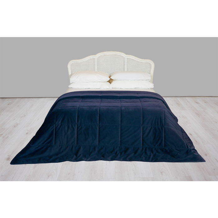 Deluxe bedspread royal blue