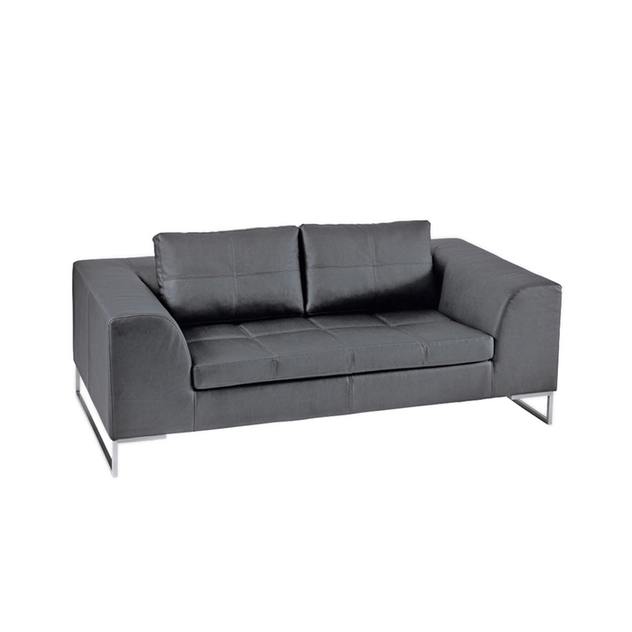 Vienna leather two seater sofa grey